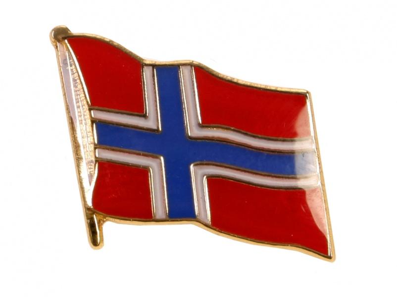 1470737e Flott pin med det norske flagget - Patriotisk