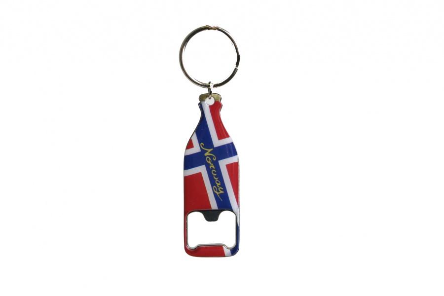 3fa53a06 Nøkkelring og flaskeåpner i norske farger - Patriotisk