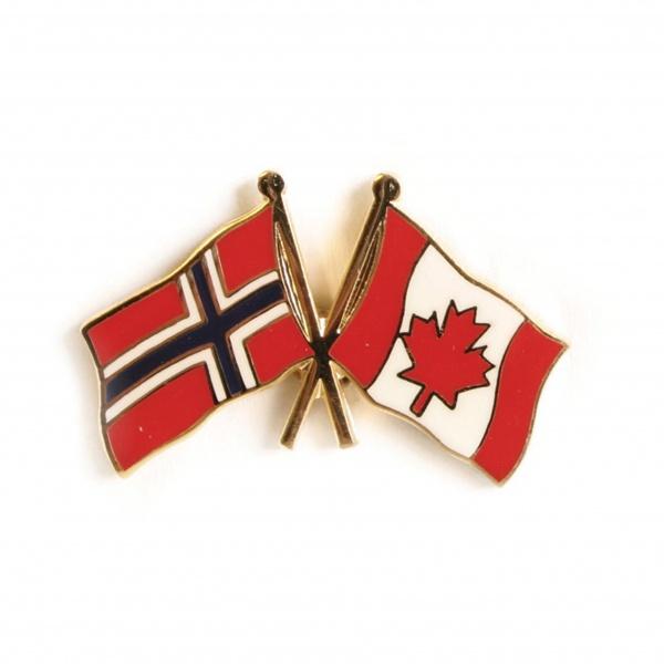 Attractive Friendship Pin Norway   Canada