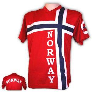 Supporter t-shirt in the Norwegian flag - Patriotisk