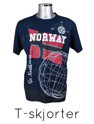 Supporter t skjorte i norsk flagg Patriotisk